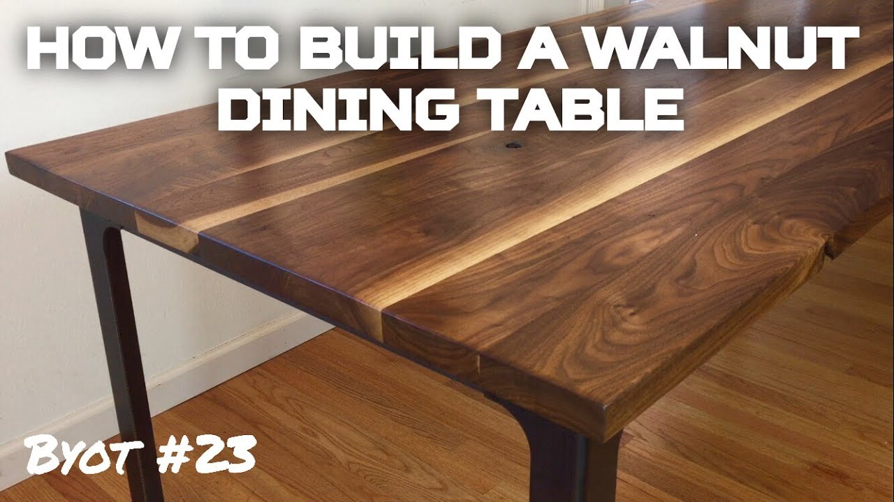 How to Build A Walnut Dining Table (BYOT #23) - YouTube