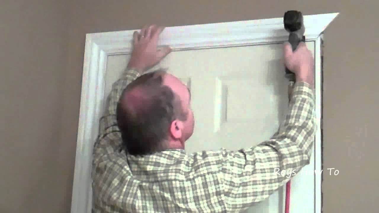 How to install door casing video youtube - How to install a prehung exterior door ...