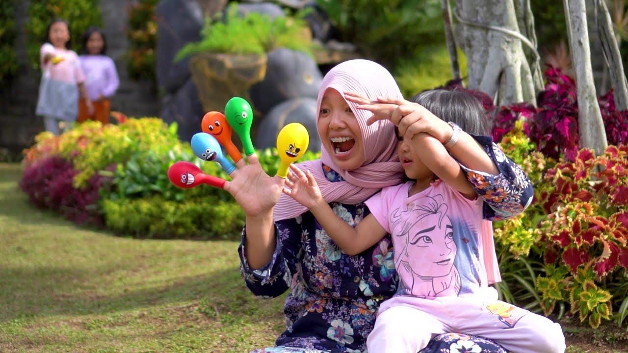 Drama Simple Belajar Warna Finger Family Balloon Song Nursery Rhymes