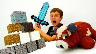 - Ночная оборона лагеря Майнкрафт Лего со Стивом и Глебом.