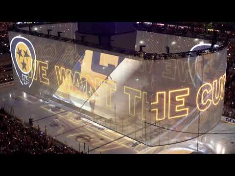 Nashville Predators - Stanley Cup Playoff Intro Round 1 Game 1 - 2018