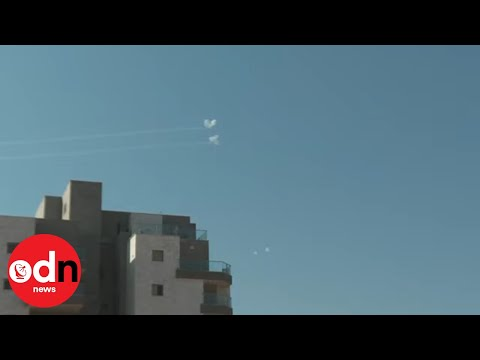 Israel's Iron Dome Defence System Shoots Down Missiles Fired from Gaza