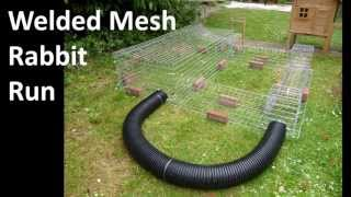 Building A Wire Mesh Rabbit Run