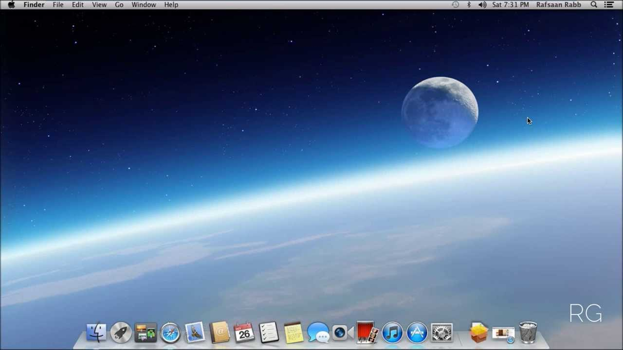 How to put your name on the menu bar (Mac OS X) - YouTube