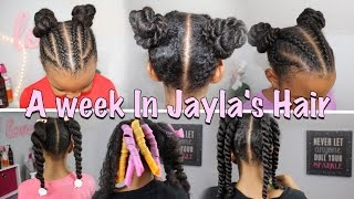 A Week In Jayla's Hair | Weekly Haircare ▸ As I Am