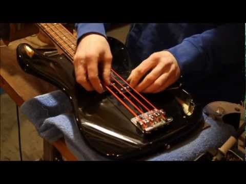 How to install a Precision Bass Pickup Set - YouTube