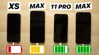 iPhone 11 Pro vs iPhone 11 Pro Max vs iPhone XS vs iPhone XS Max, TEST DE BATERIA 🔋