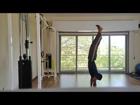 Practicing handstand