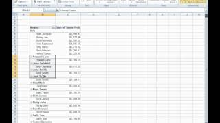 How to create a custom Gross Profit Report with a Pivot Table