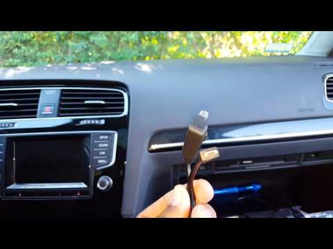 Cable media in golf mk7  - YouTube