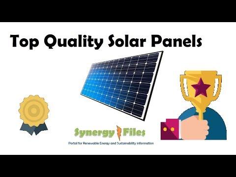 Highest Quality Solar Panels