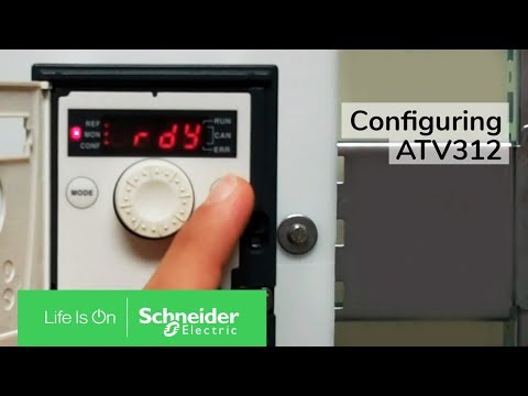 Configuring ATV312 for local sd and 2 wire start stop control | Schneider on