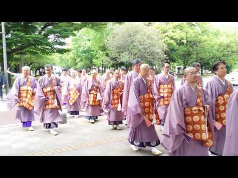 Monks at Hiroshima Peace Park