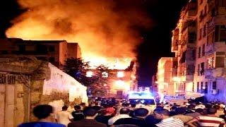 إحتراق مبنى من أربع طوابق في باب الواد بالجزائر العاصمة