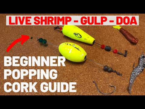 Beginner Guide - How To Rig And Fish A Popping Cork For Redfish, Trout, & Drum! (3 Steps 2020!)