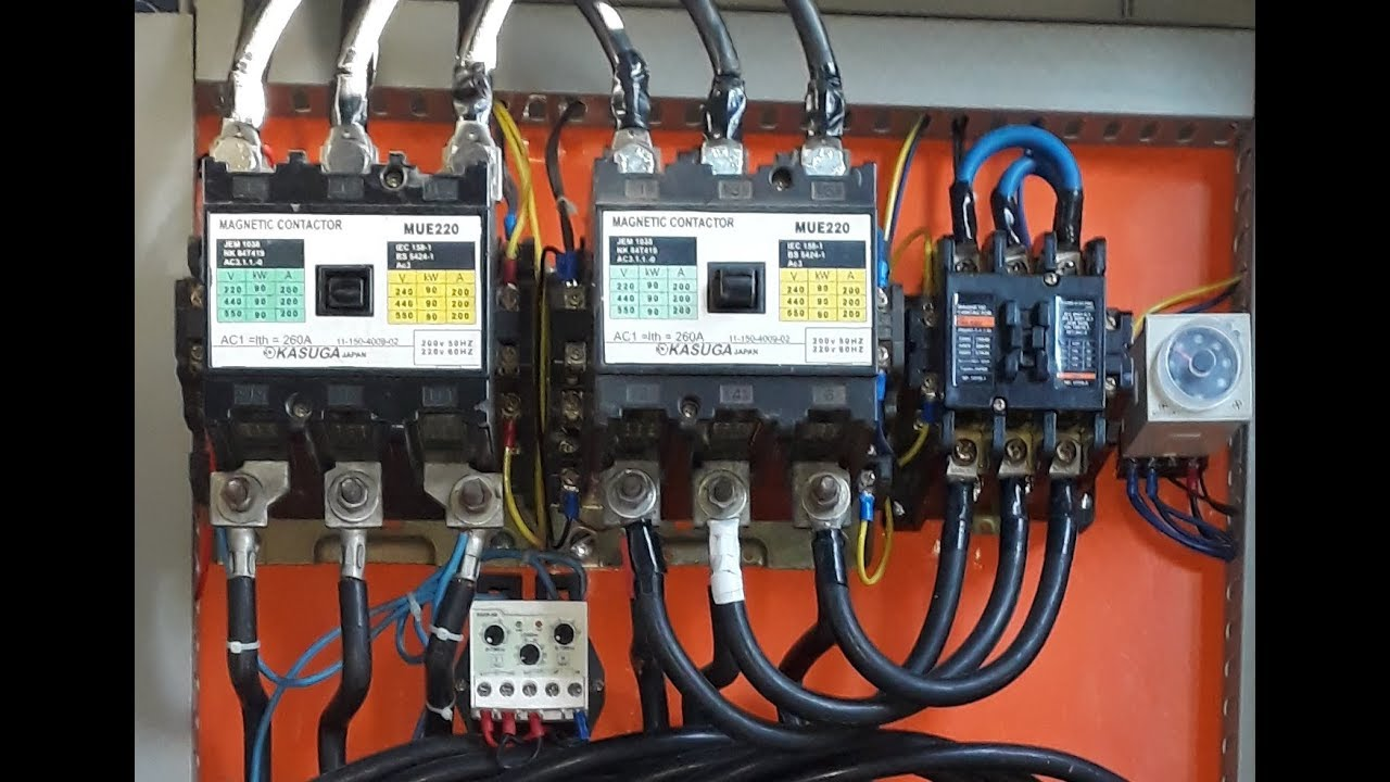 electrical panel board video circuit breaker star delta starter forward reverse starter in urdu [ 1280 x 720 Pixel ]