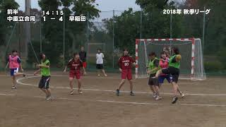 ミュンヘン vs 中慶立合同(前半)~2018年秋季大学ハンドボールリーグ(女子) 2018年11月18日