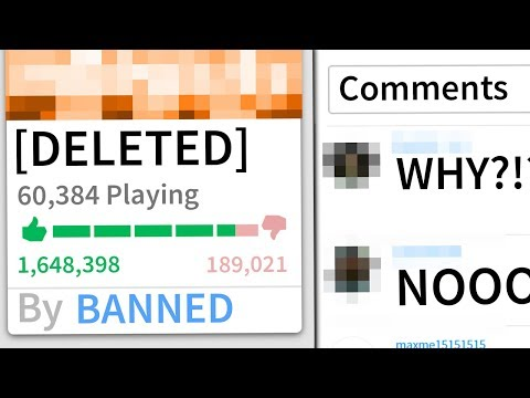 ROBLOX'S BIGGEST GAME... DELETED.