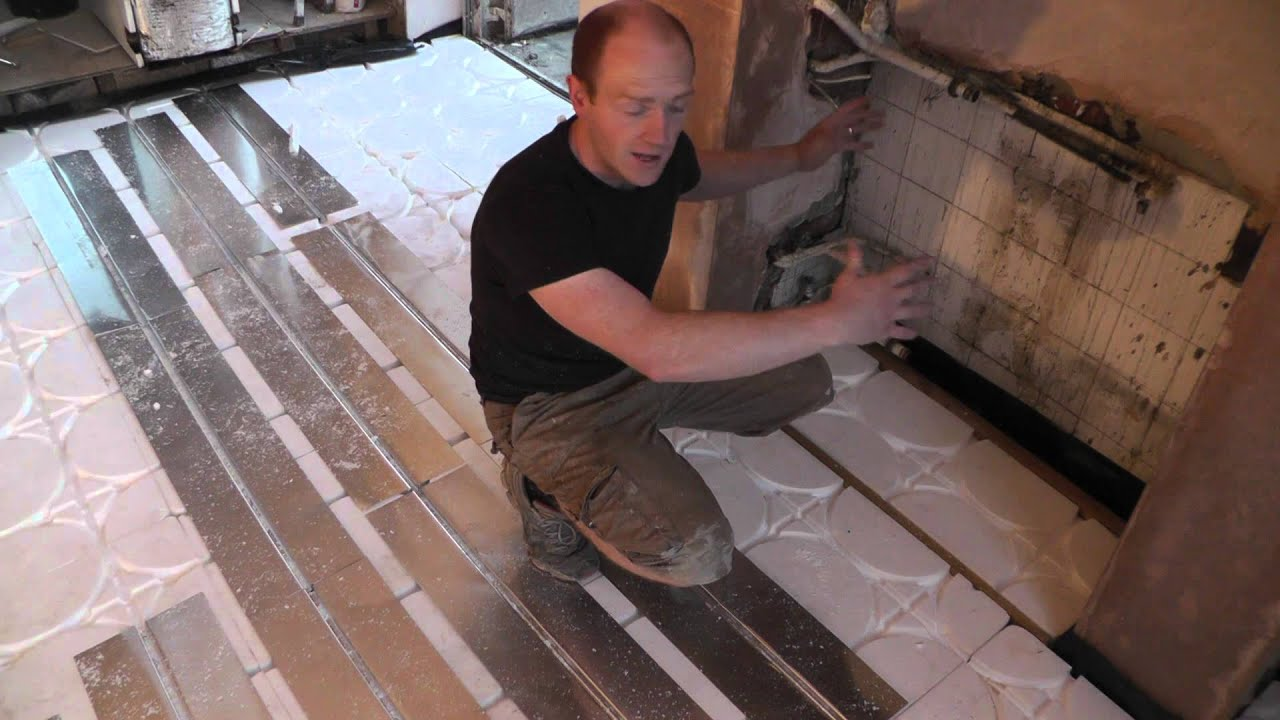 Diy underfloor heating wet floating floor system youtube dailygadgetfo Image collections