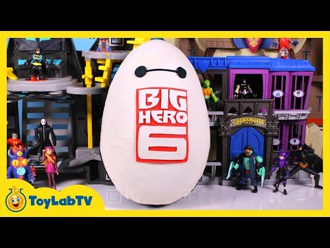 Huge Play Doh Baymax Surprise Egg with Big Hero 6 Surprise Toys