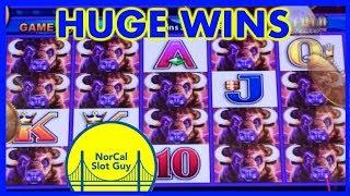 HUGE BUFFALO DELUXE 🔶 LUCKY 88 WINS @ Graton Casino | NorCal Slot Guy