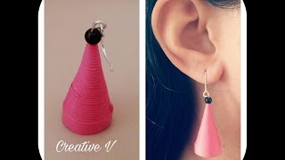How to Make Cone Shaped Quilling Earring/Tutorial