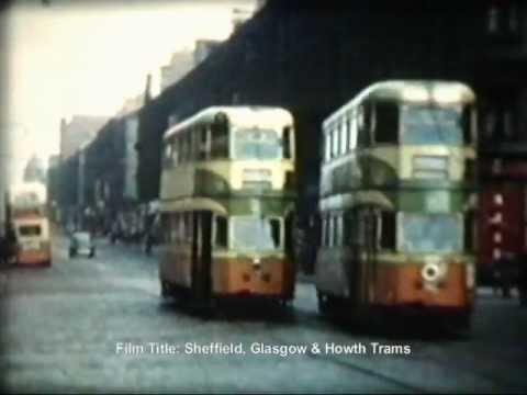 Glasgow Trams on Sauchiehall Street in April 1959