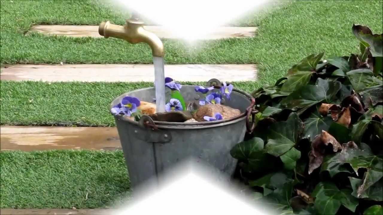 Grifo magico youtube for Fuentes de jardin caseras