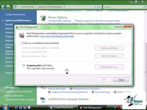 How to defrag windows 7 youtube