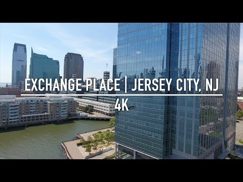 Exchange Place, Jersey City, NJ - 4K