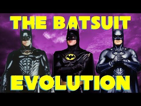 Batman Batsuit Movie Evolution 1989 - 1998