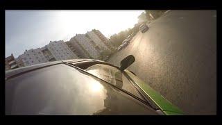 Drift on Nissan Skyline. Зеленый скай. Дрифт по городу.