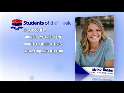 Students of the Week: Melissa Hanser and Duncan Kraft of Billings Central Catholic High School