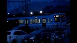 2018.05.27 近江鉄道 100形 101F 2両編成 146 普通 米原 行き 発車 近江八幡駅