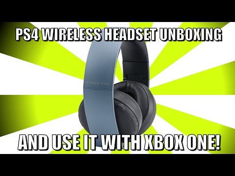 PS4 Gold Wireless Headset Unboxing and Use With Xbox One