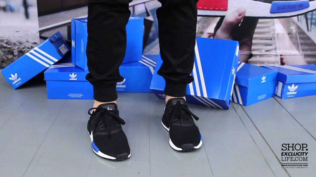 Adidas Nmd Runner Black Blue On Feet Video At Exclucity Youtube
