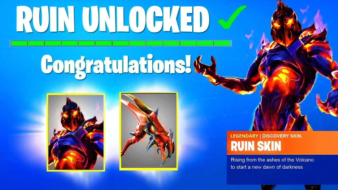 how to get new ruin skin in fortnite season 8 discovery challenges unlock week 8 free reward - fortnite skin ruine
