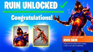 How to Get NEW RUIN SKIN in Fortnite Season 8.. (DISCOVERY CHALLENGES) Unlock Week 8 FREE REWARD