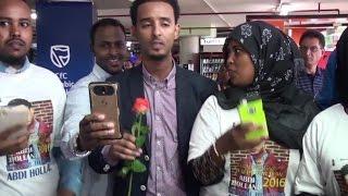Al-Fanaan Abdi Holland 00 lagu Soo Dhoweyay JKI Airport | Wacdaraha Sanadka Cusub 2016 & Ree Nairobi
