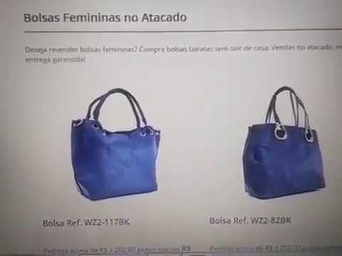 8c0f0b922 FORNECEDORES DE BOLSAS FEMININAS BARATAS NO ATACADO! - YouTube