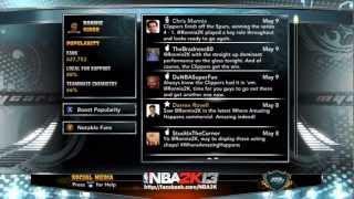 NBA 2K13 MyCareer Screenshots: Billboards, Pre-Game Rituals, Social Media and Legends