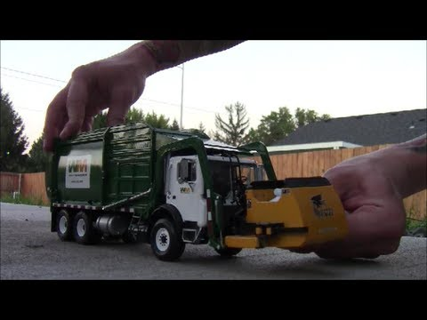 Trash Trucks For Sale >> First Gear Waste Management Garbage Day - YouTube