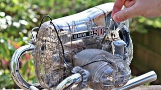BMW R90S Flat-Twin Motorcycle Engine Model Build