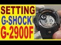 Setting Casio G-Shock G-2900F manual for use