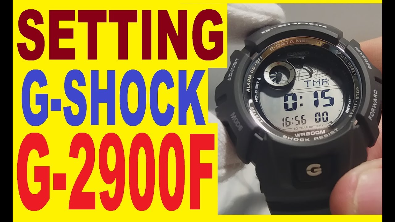 setting casio g shock g 2900f manual for use youtube rh youtube com Casio Chronograph Manuals Cercei Pictati Manual