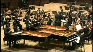 Mozart Concert for 3 pianos, Argerich, Gulda bros, Arming NJPO