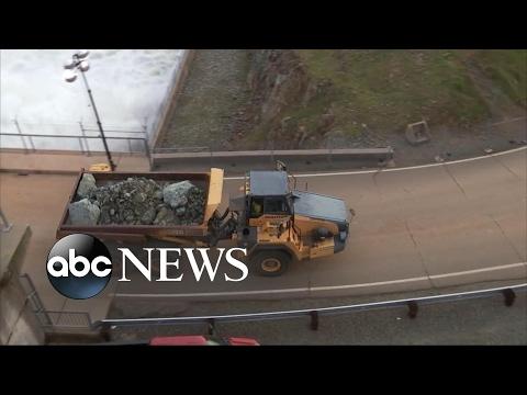 New storms bear down on California as crews rush to fix the spillways draining a swollen reservoir