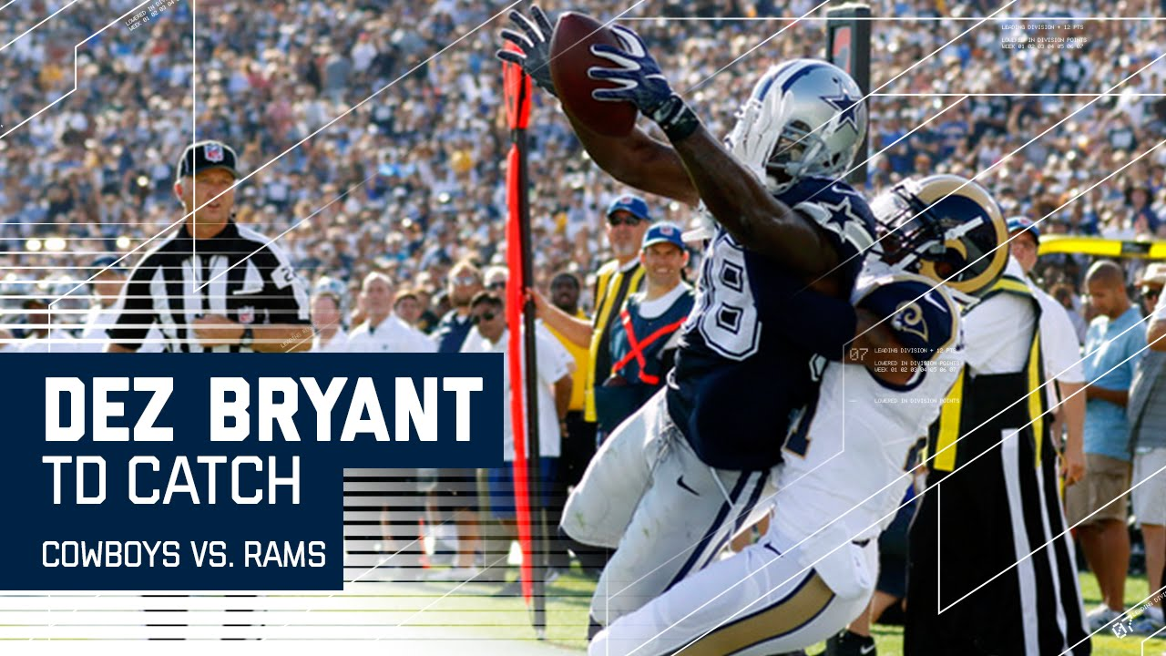Dez Bryant Comes Down With The Ball Reaches Out For Td Cowboys Vs Rams Preseason Nfl