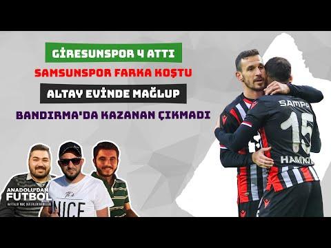 Giresunspor 16, Samsunspor 10, Altay Kayıp, Bandırmaspor Berabere | TFF 1. Lig 23. Hafta