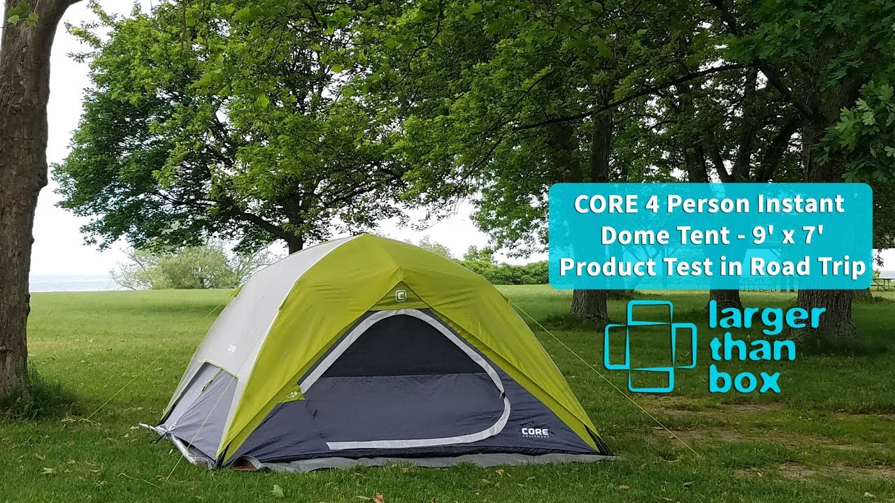 Perfect Tent for road trip in US under $100 - Core Equipment 9u0027 x 7u0027 Instant Dome Tent review & Perfect Tent for road trip in US under $100 - Core Equipment 9u0027 x ...